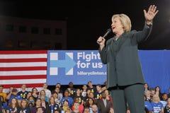 民主党总统候选人希拉里・克林顿竞选在拉斯维加斯,内华达 免版税图库摄影