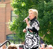 2016民主党总统被提名人,希拉里・克林顿 库存照片