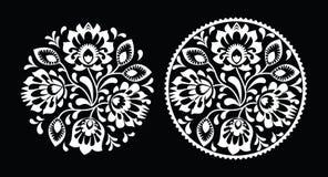民间刺绣-传统波兰样式 库存照片