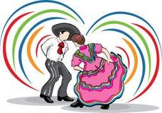 民间夫妇跳舞 库存图片