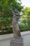 民主的女神,一个标志从1996年9月22日反对中国政府的示范 免版税图库摄影