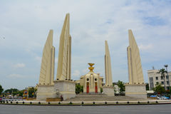 民主纪念碑在曼谷 免版税库存照片