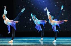 民间舞训练基本的舞蹈培训班 免版税库存图片