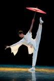 民间舞:伞舞蹈 库存图片