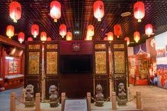 民间风俗展览在厦门博物馆 库存图片