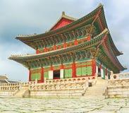 民间gyeongbokgung韩国博物馆国民宫殿 30更改的卫兵7月韩国国王好朋友s汉城南部 免版税图库摄影