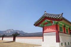 民间gyeongbokgung韩国博物馆国民宫殿 库存照片