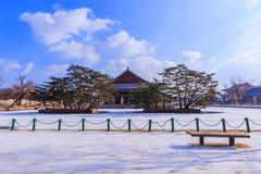 民间gyeongbokgung韩国博物馆国民宫殿 免版税库存照片