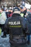 民主KOD和民主的防御的委员会的示范自由媒介/wolne媒介的对PIS g 免版税库存图片