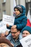 民主KOD的防御的委员会的示范自由媒介/wolne媒介的 免版税图库摄影