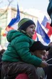 民主/KOD/的保护委员会的示范  库存照片