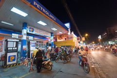 气体加油站,西贡 免版税库存图片