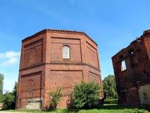 气体工厂, Klaipeda废墟  免版税库存照片