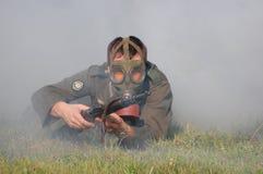 气体德国屏蔽重立法的战士ww2 免版税库存图片