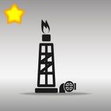气体或液体燃料钻机例证 库存照片