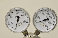 气体测量仪 免版税库存图片