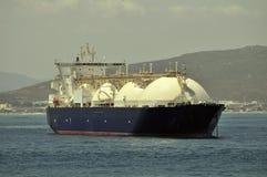 气体液化天然气自然船 免版税库存图片