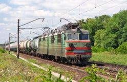 气体液化油铁路运输 免版税库存图片