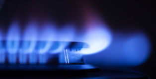 气体火焰零件 库存照片