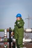 气体生产运算符 库存图片