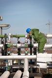 气体生产运算符 图库摄影
