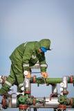 气体生产运算符 免版税图库摄影