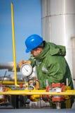 气体生产运算符 免版税库存图片