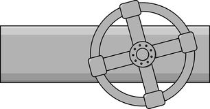 气体简单的阀门向量 库存图片