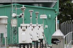 气体管道在线的压缩机驻地 免版税图库摄影