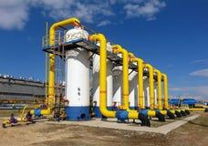 气体管道在西伯利亚 库存照片