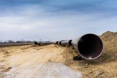 气体管道Trans亚得里亚海的管道的建筑-轻拍在没有 图库摄影