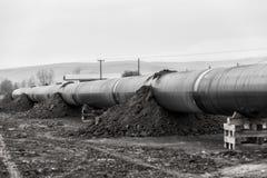 气体管道Trans亚得里亚海的管道-轻拍的建筑 免版税库存图片