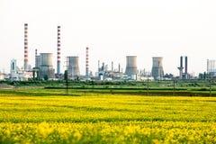 气体精炼厂普洛耶什蒂罗马尼亚 免版税库存图片