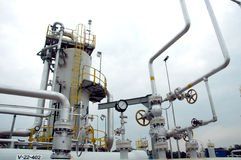 气体精炼厂 库存照片