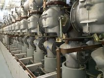 气体绝缘高压的开关 库存照片