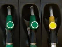 气体绿色泵机架黄色 库存照片