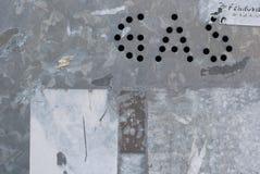 气体街道盖帽的标志 库存图片