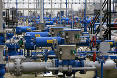 气体instalation 免版税库存图片