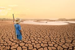 气候变化和世界环境概念 库存图片