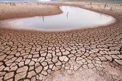 气候变化天旱土地 免版税库存照片