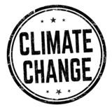 气候变化标志或邮票 库存例证