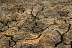 气候变化,地面是干燥的,天旱,破裂的地面 库存图片