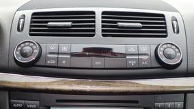 气候控制仪表板单位、透气、温度盘区、按钮、设计和技术 库存图片