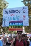 气候的马尔什-生态示范 巴黎法国星期六, 2018年9月08th日, 免版税库存照片