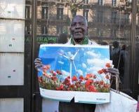 气候的3月-生态示范 巴黎法国星期六, 2018年9月08th日, 免版税库存照片