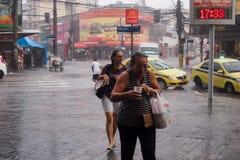 气候:夏天雨在里约热内卢 库存照片