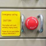 气动力学的开关,紧急按钮,应急开关 库存照片