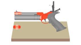 气动力学的手枪 股票录像