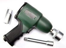 气动力学,空气冲击式套筒扳手和喷管 库存照片