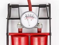 气压计脚踏泵 免版税库存图片